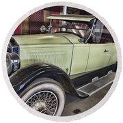 Vintage Bugatti  Round Beach Towel