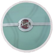 Vintage Buick Emblem Round Beach Towel