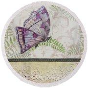 Vintage Butterfly-jp2568 Round Beach Towel