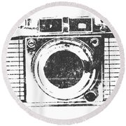 Vintage Camera Round Beach Towel