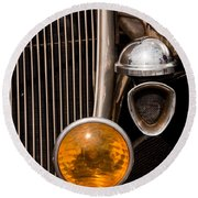 Vintage Car Details 6294 Round Beach Towel
