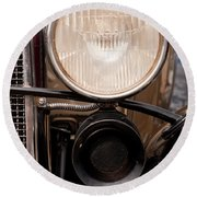 Vintage Car Details 6295 Round Beach Towel