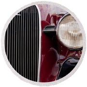 Vintage Car Details 6297 Round Beach Towel