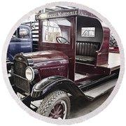 Vintage Chevrolet Pickup Truck Round Beach Towel