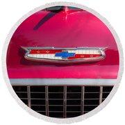 Vintage Chevy Bel Air Round Beach Towel