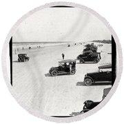 Vintage Daytona Beach Florida Round Beach Towel