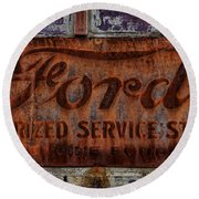 Vintage Ford Authorized Service Sign Round Beach Towel