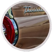 Vintage Ford Thunderbird Round Beach Towel