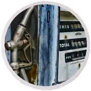 Vintage Gas Pump 2 Round Beach Towel