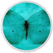 Vintage Grunge Butterfly Round Beach Towel