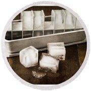 Vintage Ice Cubes Round Beach Towel by Edward Fielding