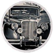 Vintage Jaguar 1950s Round Beach Towel