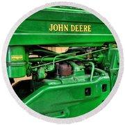 Vintage John Deere Tractor Round Beach Towel