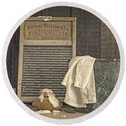 Vintage Laundry Room II By Edward M Fielding Round Beach Towel