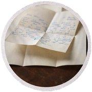 Vintage Letter Round Beach Towel