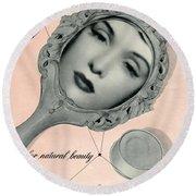 Vintage Make Up Advert Round Beach Towel