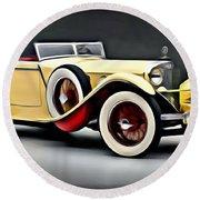 Vintage Mercedes Convertible Round Beach Towel