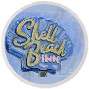 Vintage Neon- Shell Beach Inn Round Beach Towel