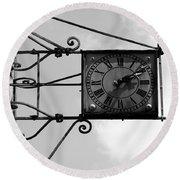Vintage Paris Clock 2 Round Beach Towel