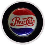 Vintage Pepsi Bottle Cap Round Beach Towel