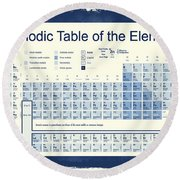 Vintage Periodic Table Of The Elements Round Beach Towel by Dan Sproul