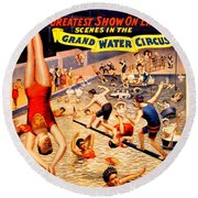 Vintage Poster - Circus - Barnum Bailey Water Round Beach Towel