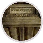Vintage Radio Round Beach Towel