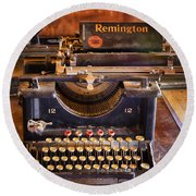 Vintage Remington Typewriter  Round Beach Towel