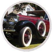 Vintage Rolls Royce Phantom Round Beach Towel
