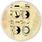 Vintage Self-winding Watch Movement Patent Round Beach Towel