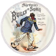 Vintage Sheet Music Cover 1896 Round Beach Towel