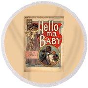 Vintage Sheet Music Cover Circa 1900 Round Beach Towel