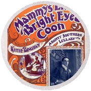 Vintage Sheet Music Cover Round Beach Towel