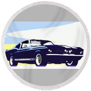 Vintage Shelby Gt500 Round Beach Towel