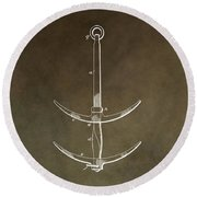 Vintage Ship's Anchor Patent Round Beach Towel