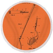 Vintage Stecher Gold Club Patent - 1960 Round Beach Towel