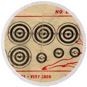 Vintage Target Card Round Beach Towel