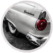 Vintage Ford Thunderbird Round Beach Towel