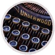 Vintage Typewriter 2 Round Beach Towel