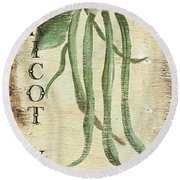 Vintage Vegetables 2 Round Beach Towel by Debbie DeWitt