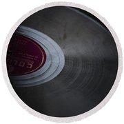 Vintage Vinyl Round Beach Towel