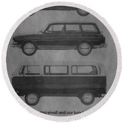 Vintage Volkswagen Ad 1971 Round Beach Towel