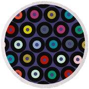 Vinyl Violet Round Beach Towel