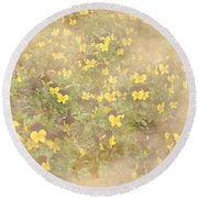 Viola Field Round Beach Towel