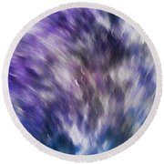 Violet Breeze Round Beach Towel