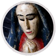Virgin Of Guadalupe Round Beach Towel