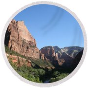 Virgin River View Round Beach Towel
