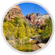 Virgin River - Zion Round Beach Towel