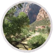 Virgin River Zion Valley Round Beach Towel