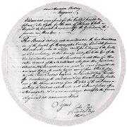Virginia Council, 1778 Round Beach Towel